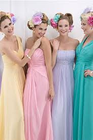 the pastel bridesmaid dresses from kelsey rose 2015 rainbow