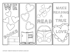 free valentine u0027s day bookmarks to color the purposeful mom