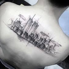 70 city skyline tattoo designs for men downtown ink ideas