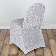 metallic spandex chair covers wedding party reception decorations