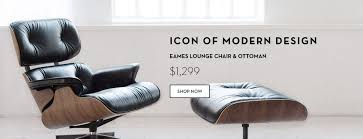 Eames Lounge Chair In Room Barcelona Designs Mid Century Modern Furniture Free Shipping