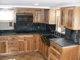 soapstone countertops knotty pine kitchen cabinets lighting