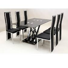 glass table and chairs for sale glass dining table 6 chairs sale gallery dining