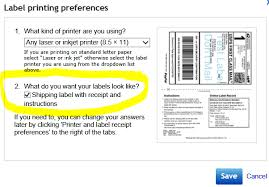 solved setting printing preferences for labels one per