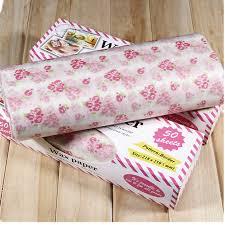 waterproof christmas wrapping paper 50pcs wax paper christmas gift wrapping paper food oilpaper