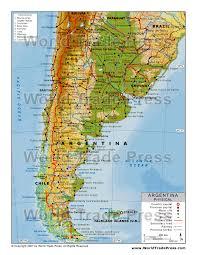 physical map of argentina physical map of argentina