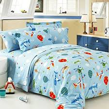 Boys Duvet Covers Twin Amazon Com Zacard Cartoon Airplane Bedding Set Boys Bedding