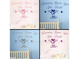 Mickey Mouse Room Decor Nursery Wall Sticker Quote Mummy Loves You Mickey Mouse Bedroom