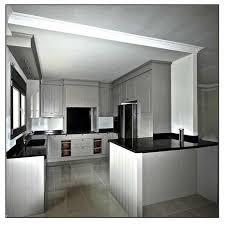 cuisines blanches et grises tapis de motif floral gris armoire cuisine blanche tabourets bar en