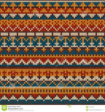 knitted seamless pattern in fair isle style eps available stock