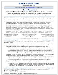 Financial Advisor Resume Examples by Creative Event Planner Resume Sample Recentresumes Com