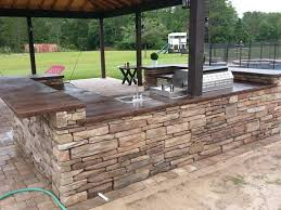 Outdoor Kitchen With Concrete Countertops 8 Steps With Picture by How To Acid Staining Concrete Countertops Directcolors Com
