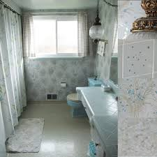 Bathroom Shower Curtains Ideas by Pleasant Small Vintage Bathroom Design With Incredible Shower