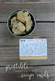 thanksgiving casseroles recipes printable thanksgiving recipe cards oh my creative