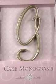 lillian cake topper 8 numbered cake monogram by lillian silver monograms and