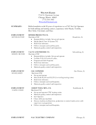Machinist Resume Template Ideas Of Free Resume Templates For Machinist On Summary Shishita