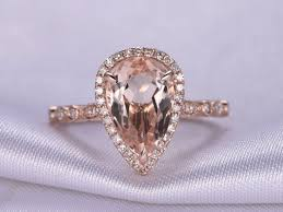 pink morganite myray 14k gold pear cut pink morganite diamond