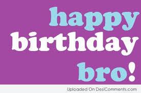 happy birthday bro greeting card graphic