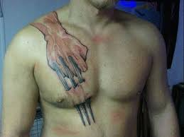 tribal claw on chest photos pictures and sketches