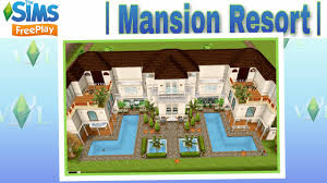 the sims freeplay mansion resort tour youtube