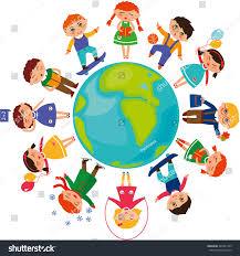 children around world day illustration stock illustration