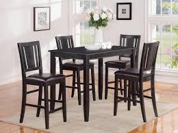 black counter height table set black counter height dining fascinating bar height kitchen table