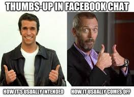 Thumbs Up Meme - when someone only responds with a thumbs up in facebook chat