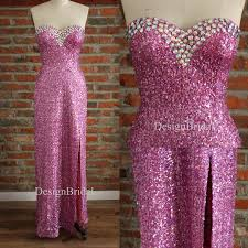 sweetheart prom dresses pink sequin dress beaded wedding party
