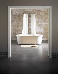 silver travertine honed wall and floor tile 300x400 kate elegant bath in minimalist bathroom design beautiful contrasting dark slate floor and natural stone wall tiles available from walls and floors