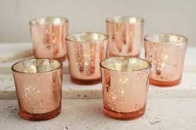mercury tea light holders 30 rose gold mercury blush glass votive candle holders bulk lot