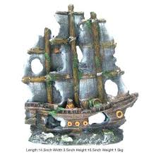aquarium pirate ship wooden mystery pirate ship this wooden mystery