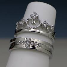 Wedding Rings Sets For Women by Engravable Men And Women Couples Engagement Rings Set For 2