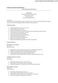 Resume Sample For College by Graduate Application Resume Template