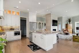 kitchen cabinets open floor plan modern open plan kitchen with white cabinets hgtv
