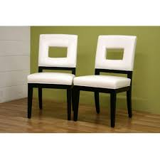White Leather Dining Room Chair by Baxton Studio Faustino White Faux Leather Upholstered Dining