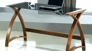 wood desk with glass top glass top writing desk wood with designer desks ease many tasks to