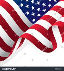 Waving American Flag Waving American Flag Vector Clipping Mask Stock Vector 401821195