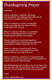 thanksgiving prayer micheleelise