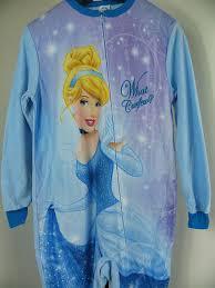 j61 cinderella sleepsuit sleepwear footed pajamas pyjamas sz