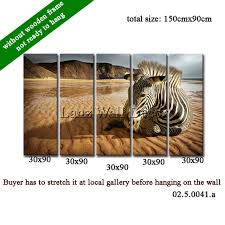 Hanging Canvas Art Without Frame Without Wooden Frame Not Ready To Hang Canvas Painting A Zebra
