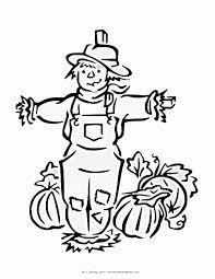 free printable coloring pages of scarecrows coloring home