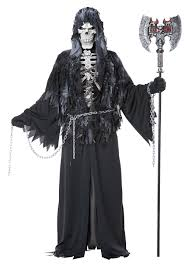 skelton halloween scream shrieking soul grim reaper men halloween costume