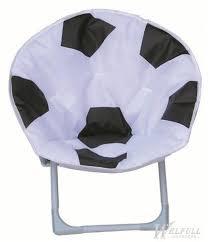 Blue Saucer Chair Football Design Portable Kids Saucer Chair With Safe Lock Kids