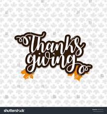 happy thanksgiving day lettering text stock vector 741933772