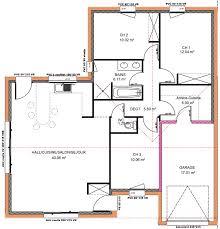 plan maison en l plain pied 3 chambres plan maison plain pied 100m2 trendy with plan maison plain pied