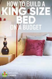 Make Bed Frame How We Make A Diy King Size Bed Frame On A Budget In 8 Easy Steps