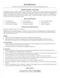 objectives for teacher resume high school teacher resume examples free resume example and resume sample high school example free resume template for high school