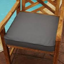 Sunbrella Cushions For Outdoor Furniture Indoor Outdoor Textured Neutral 19 Inch Chair Cushion With