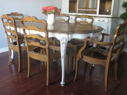 Dining Room Table Refinishing Light 6 Piece Round Dining Room Set In White Painted Beyond Stores