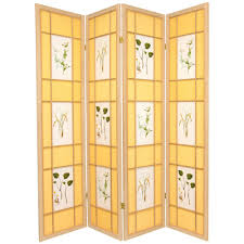 4 panel room divider natural seashell room dividers home accents the home depot